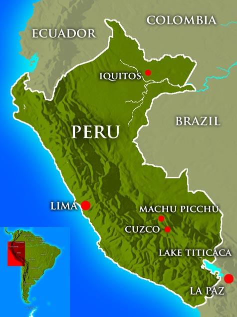 Перу где находится на карте